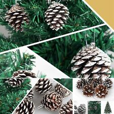 US Seller 9pcs / set Christmas Pine*Cones Baubles Tree Party Decor Xmas Ornament