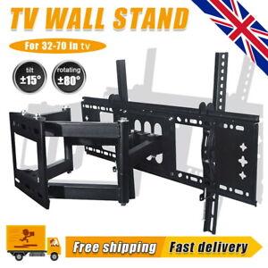 TV Wall Mount Bracket Full Motion Tilt Swivel Pivot Tough LCD LED 32-70 in Stand