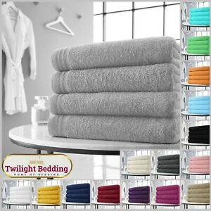 HOTEL QUALITY LARGE SIZE Wilsford Bath Sheet Pack 4 Bale Set Soft 500 GSM Towel