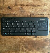Logitech K400 Wireless Touch Keyboard with Touchpad - Black