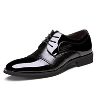 Business Casual Shoes Men's Leather Dress Formal Oxfords Shoes Black/Brown