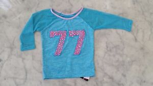 NWT $39 California Kisses dance wear long sleeve top child's size L (12)