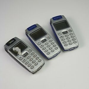 Lot of 3 Vintage Alcatel One Touch OT-525 Mobile Phones Since 2002 - For Parts
