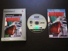 JEU Sony PlayStation 2 PS2 : BURNOUT (Platinum COMPLET envoi suivi PAL)