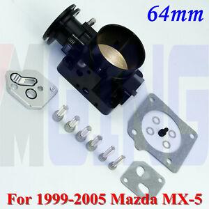 For 1999-2005 Mazda 64mm Throttle Body  Miata MX-5 L4 BP-4W BP-Z3 Pro Series BK