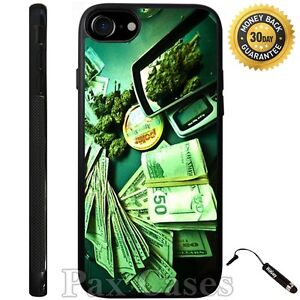 Money and Weed Custom Case For iPhone 6S 7 Plus Samsung Galaxy S7 Edge S8 Plus