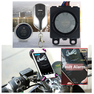 Motorcycle Engine Ignition Keyless One-button Start Anti-theft Alarm System Kit