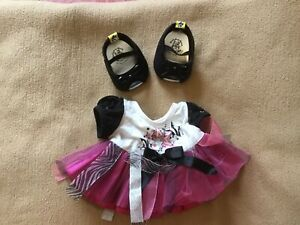 Build A Bear Outfit - Rock Party Dress and Matching Peep-toe Shoes