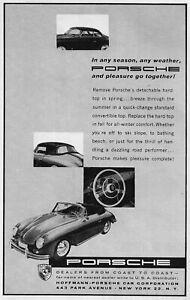 "1958 Porsche 356 A Type 1 Roadster ""In Any Season"" Original Ad"