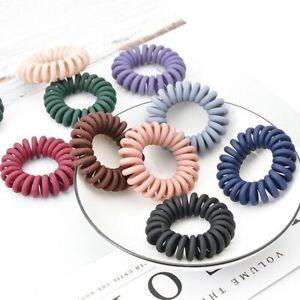 Telephone Ring Hair Bands 5pcs Box Hair Tie Transparent Elastic Plastic Rubber