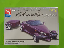 1997 Plymouth Prowler With Trailer- AMT Factory Sealed  Box # 8588 - 1:25 Scale