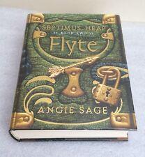 Angie Sage:Flyte -Lined, Signed & Doodled Hardback 1st Edition [Septimus Heap 2]