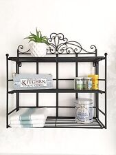 French Vintage Style Wall Shelf Unit Storage Kitchen Display Shabby Chic Shelves