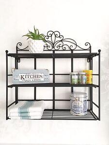 French Vintage Style Wall Shelf Unit Storage Kitchen Display Shabby Chic Shelves