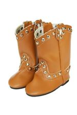 """Doll Clothes AG 18"""" Boots Cowgirl Studded Camel Made To Fit American Girl Dolls"""