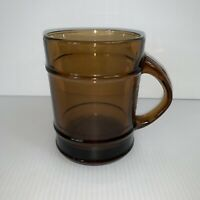 Fire King Cup Mug C Handle Brown Barrel Shape 20 oz Vintage