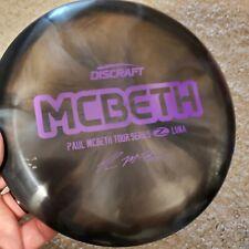 Discraft Luna - Paul McBeth Tour Series Z Plastic Swirl - 172grams - Black