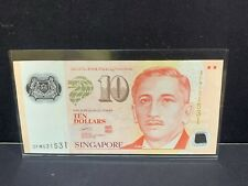 """2004(ND) Singapore $10 Polymer """"SPORTS"""" 2 Triangles P-48e """"REPEATER"""" Serial"""