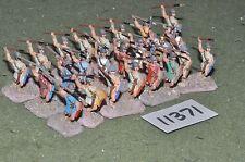 25mm medieval / gasgan - javelinmen 24 figs - inf (11371)
