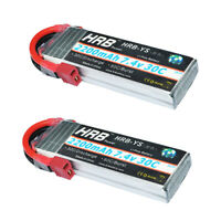 2pcs  HRB 7.4V 2200mAh RC LiPo Battery 2S 30C for Drone Helicopter Airplane Car