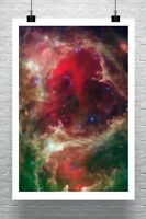 SPIRAL GALAXY M106 Hubble Deep Space Giclee CANVAS PRINT 30x24 in.