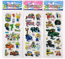 3 x Assorted Sheets of Pororo the little Penguin Stickers - kids party favours