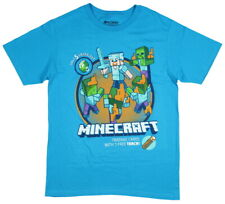 Minecraft Shirt for Boys with Steve Battling Zombies (X-Small 4-5)