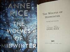 Anne Rice signed The Wolves of Midwinter 1/1 HC book signed in person NOT TIPPED