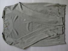 Calvin Klein Jeans Women's Mesh Cut-Out Crew Neck Sweater Silver/grey Medium