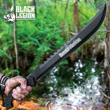 "24"" HUNTING SURVIVAL Sawback Military FULL TANG MACHETE Fixed Blade Knife SWORD"