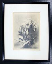 Mid Century Modern Framed Lithograph Signed Joe Jones 1950s Scavengers 6/30