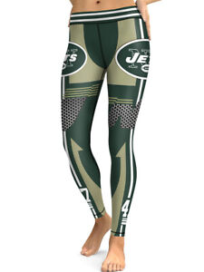 New York Jets Leggings Small-XXL (0-14) Football Womens Game Gear NY Green
