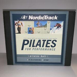 Nordic Track Pilates Ball 65 Cm Pilates Ball Blue With Air Pump New Open Box E14