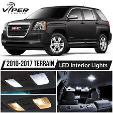 2010-2017 GMC Terrain White Interior LED Lights Package Kit + License Lights