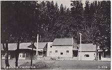 California Ca Postcard CASTELLA Railroad DEPOT Saloon
