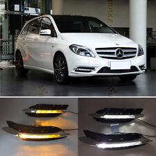 LED Daytime Running Light With Turn Sianal Light For Benz W246 B-Class B180 B200