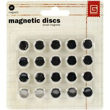 "Basic Grey MET359 Magnetic Discs .375"" 20/Pkg-1/32"" Thick NEW"