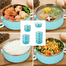 Insulated Bento Lunch Box Stainless Steel Thermal Food Storage Container Travel