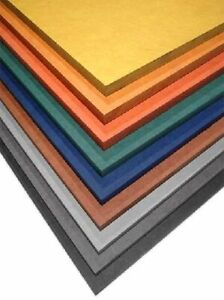 Orange MDF Platte buntes Brett gefärbt Holz 91x30cm 8mm