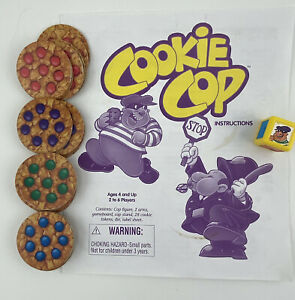 MB Cookie Cop Game Replacement Pieces 28 Cookies Instructions and Die 1997
