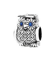 Genuine PANDORA Silver Wise Graduate Owl Charm 791502NSB FREE DELIVERY