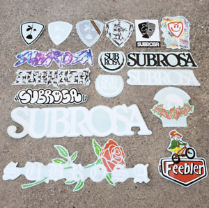 SUBROSA BMX STICKER Subrosa 2.75 in x 3 in White Cycling Motocross Decal