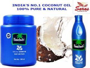 Parachute Coconut Oil-100% Pure & Natural- No.1 Selling Coconut Oil Bottle & Jar