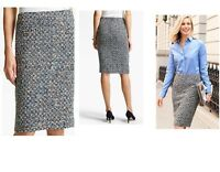 Women's Talbots poppy tweed pencil skirts all sizes $109 price tag NWT