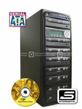 CD DVD Copier Duplicator 7 Drive, StorDigital PrintTower / LightScribe, SATA,