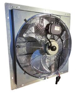 Solar Greenhouse Louvered Exhaust Fan - 12v Western Harmonics Kit Fan# 1825-AG