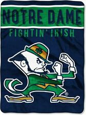 Notre Dame Fighting Irish Plush Raschel Throw/Blanket - Choose Design