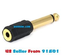 6.35mm (1/4 Inch) Mono Plug to 3.5mm Stereo Jack Adapter