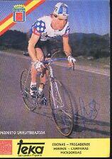 MODESTO URRUTIBEAZCOA cyclisme ciclismo cp Signée TEKA autographe Cycling rider