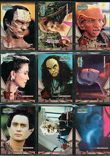 STAR TREK DS9 MEMORIES FROM THE FUTURE SET OF 9 ALIEN RACES CARDS AR1-AR9